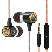 Wired In-Ear Earphone headset with Mic Microphone for mobile phones Stereo Bass Earbuds 3.5mm Jack
