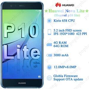 "Image 3 - Original Huawei P10 Lite Smartphone Android 7.0 Side Glass Body 4GB 64GB Octa Core 5.2"" 1920x1080P Huawei Nova lite Mobile Phone"