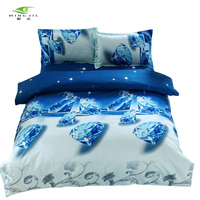 Blue Diamonds 3D Duvet Cover for Boys and Girls Bed Spread for Queen Size Quilted Bedding Sets for Wholesaling Bed Linen China