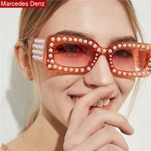 571d6d08b72 2018 New Italy Brand Designer Clear Pink Square Sunglasses Women Pearl  Rihanna Sunglasses Luxury Pearl Frames lentes Eyewear