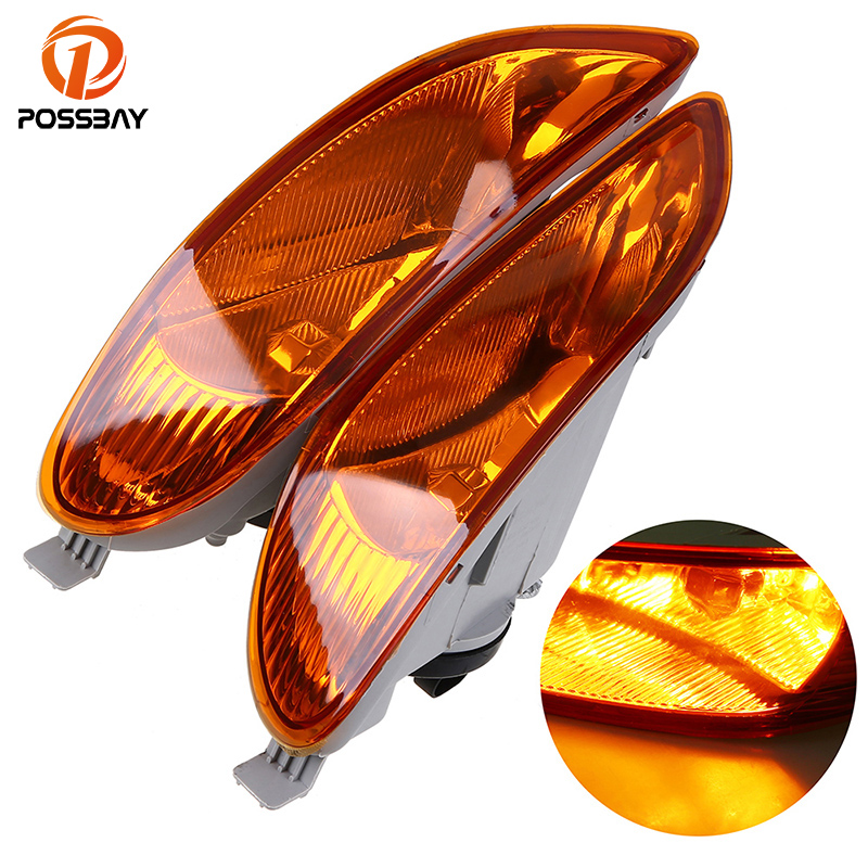 POSSBAY Car Front Bumper Fog Light Lamps With 9006 12V 55W Bulbs for 2002 2003 2004 Toyota Camry Models Pre-facelift Amber Lamp for toyota camry acv30 2 4 front chrome grille with logo 2002 2003 1pc