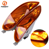 POSSBAY Car Front Bumper Fog Light Lamps With 9006 12V 55W Bulbs For 2002 2003 2004