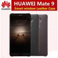 For Huawei Mate 9 Case Official intelligent Smart View Vindow PU Leather Case For Huawei Mate 9 Flip Cover Full Protective Cases
