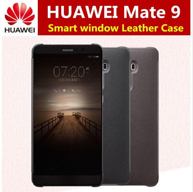 imágenes para Para huawei mate 9 case oficial inteligente smart view vindow pu leather case para huawei mate 9 casos tirón de la cubierta de protección completa