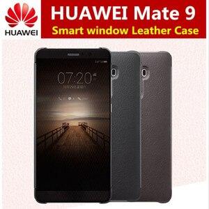 Image 1 - Voor Huawei Mate 9 Case Officiële intelligente Smart View Vindow PU Leather Case Voor Huawei Mate 9 Flip Cover Volledige beschermende Gevallen
