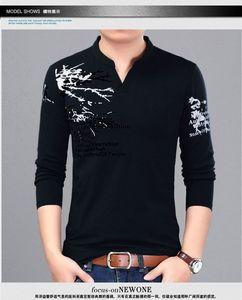 Image 4 - ICPANS T Shirt Men V Neck Men Print Casual T Shirts Long Sleeve Cotton Clothes Men Tshirts Size Plus 4XL 5XL 2018 Tees Tops Mens