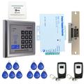 Brand New Full RFID Card Code Door Access Control System Kit + Door Electric Strike Lock + Remote Control in stock Free Shipping