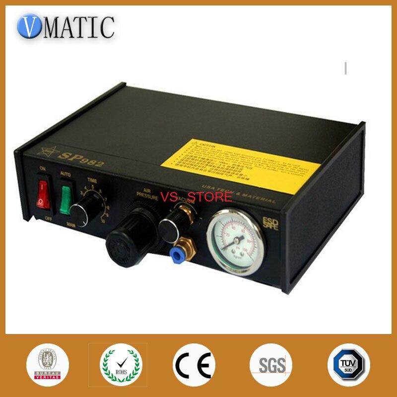 Бесплатная доставка 220 V Авто Клей дозирования пасты жидкости контроллер дозатор SP982 диспенсер пневматическая машина