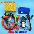 Casa auto sucção de lavar carro elétrico máquina de lavar 12 V bomba lavador de carros Cleaner + 8 padrão pistola de água espuma [ pacote de 2 ]