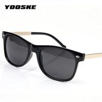 YOOSKE Vintage Men's Women's Sunglasses Male Female Sun Glasses Fashion Feminine Masculine Goggle