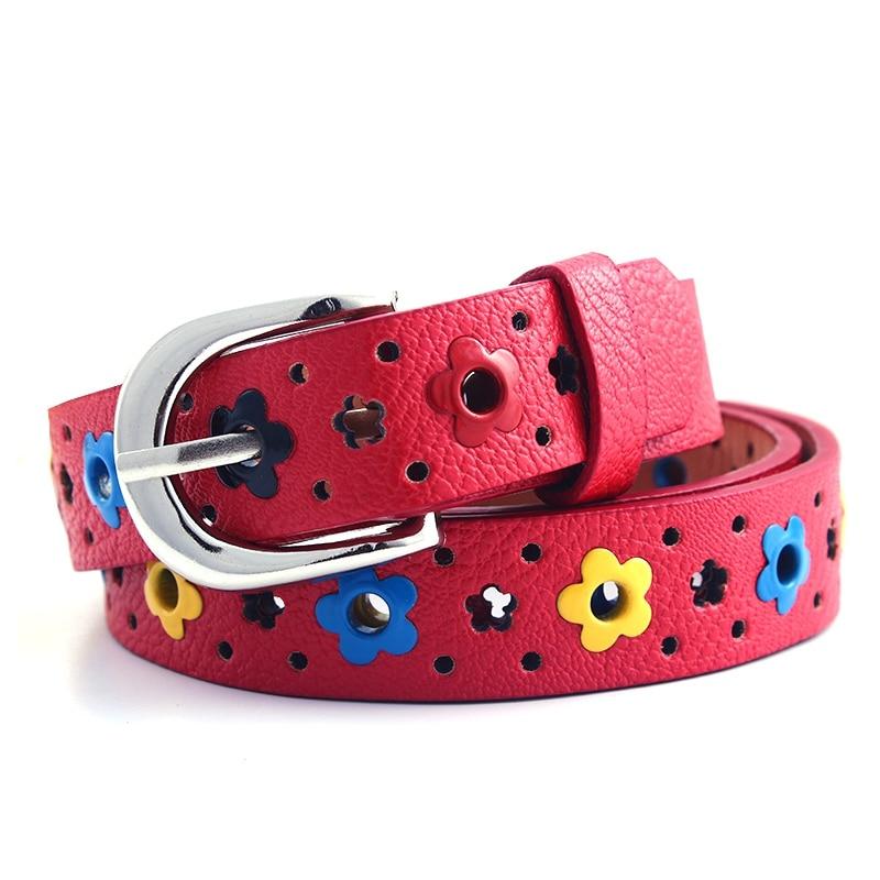 Cute Kids Children Boys Girls Belt Hollow Flower Waistband Faux Leather Belt  Buckle Apparel Belts Accessories|Men's Belts| - AliExpress