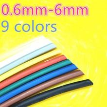 1 метр 2:1 9 цветов 0,6 мм 0,8 мм 1 мм 1,5 мм 2 мм 2,5 мм 3 мм 3,5 мм 4 мм 4,5 мм 5 мм термоусадочные трубки провод Прямая поставка