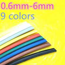 1meter 2:1 9 Colors 0.6mm 0.8mm 1mm 1.5mm 2mm 2.5mm 3mm 3.5mm 4mm 4.5mm 5mm Heat Shrink Heatshrink Tubing Tube Wire Dropshipping