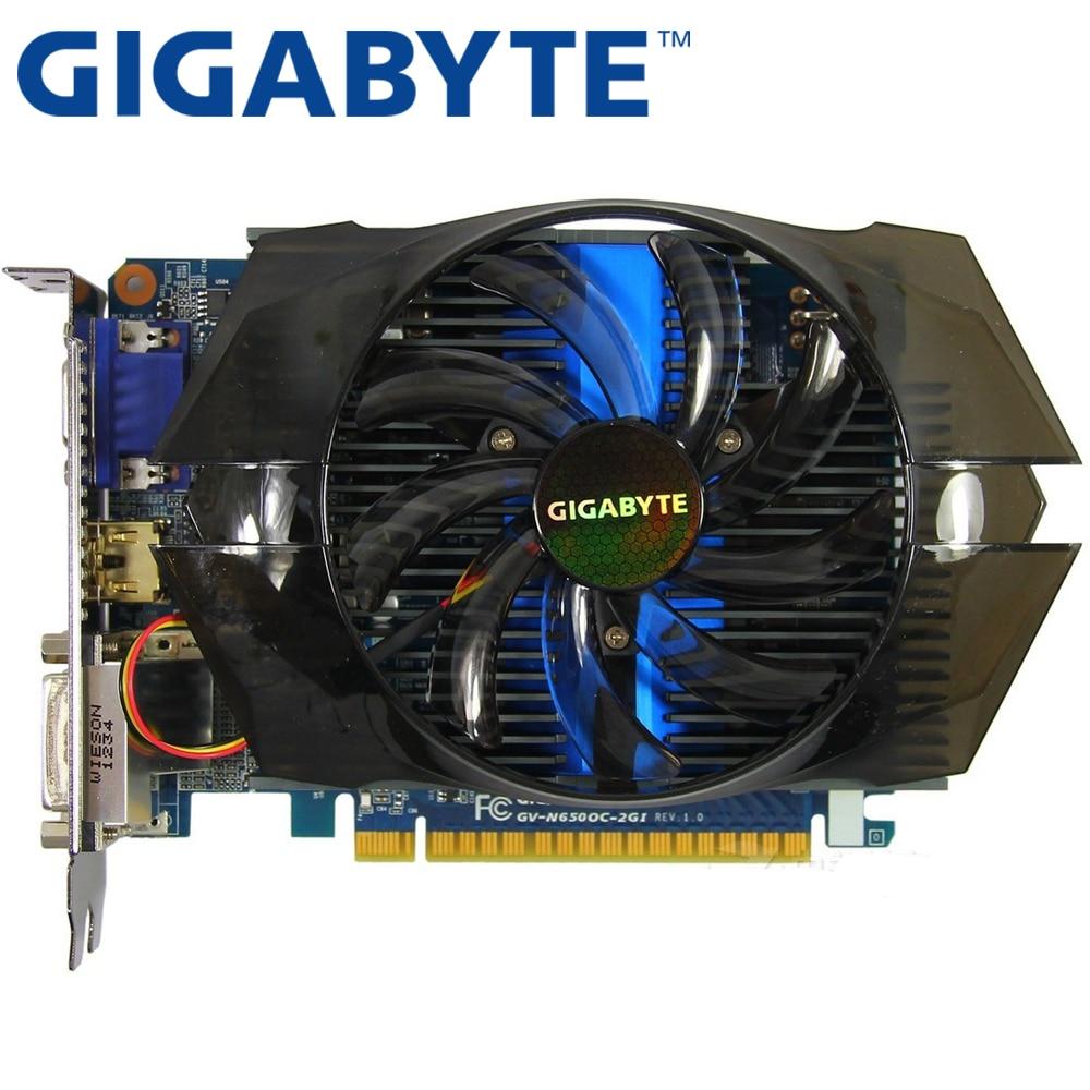 GIGABYTE Video Card Original GTX650 2GB 128Bit GDDR5 Graphics Cards For NVIDIA Geforce GTX 650 Hdmi Dvi  Used VGA Cards 750 TI