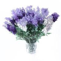 Новый 5 шт. красота из искусственного шелка Цветы лаванды Букет Свадебные подарки домашний сад Новый