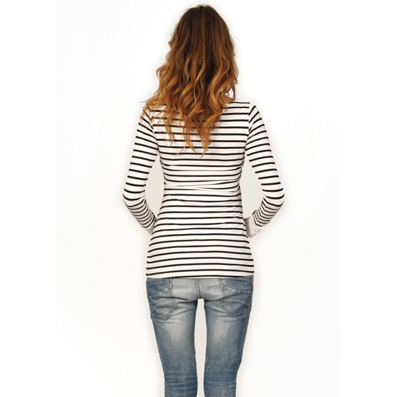 33285996955 Plus Size Striped Black   White Maternity Tees Breastfeeding Clothes for Pregnancy  Women Nursing Tops Maternity Clothes-in Tees from Mother   Kids on ...