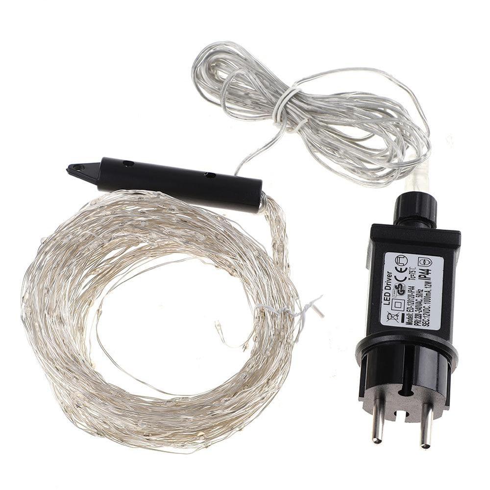 Lampe haute puissance solaire fil de cuivre lampe extérieure étanche tuyau lampe basse pression haute LED noël argent lampe chaîne