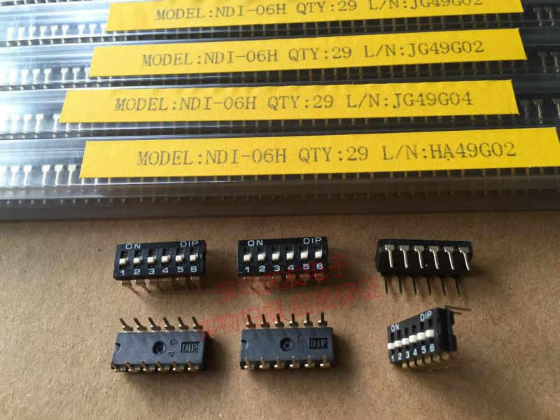 Orijinal yeni 100% ithalat DIP NDI-06H 6 P arama anahtarı üst anahtarı 6 bit ayak mesafesi 2.54mm