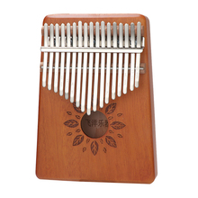 Scoutdoor 17 Keys Butterfly and Wheels Kalimba Thumb Piano Mahogany Body Musical Instrument with High-Quality Solid Wood цена