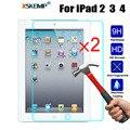 XSKEMP 2 шт./лот планшет закаленное стекло для Apple iPad 2/3/4 9 7 дюймов Защита от царапин Ультра прозрачная защитная пленка
