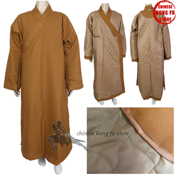 Top Quality Winter Buddhist Monk Dress Quiltted Shaolin Kung fu Robe Zen Masters Meditation Uniform