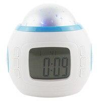 Music Led Star Sky Projection Digital Alarm Clock Calendar Thermome Kids Wecker Despertador Digital De Mesa