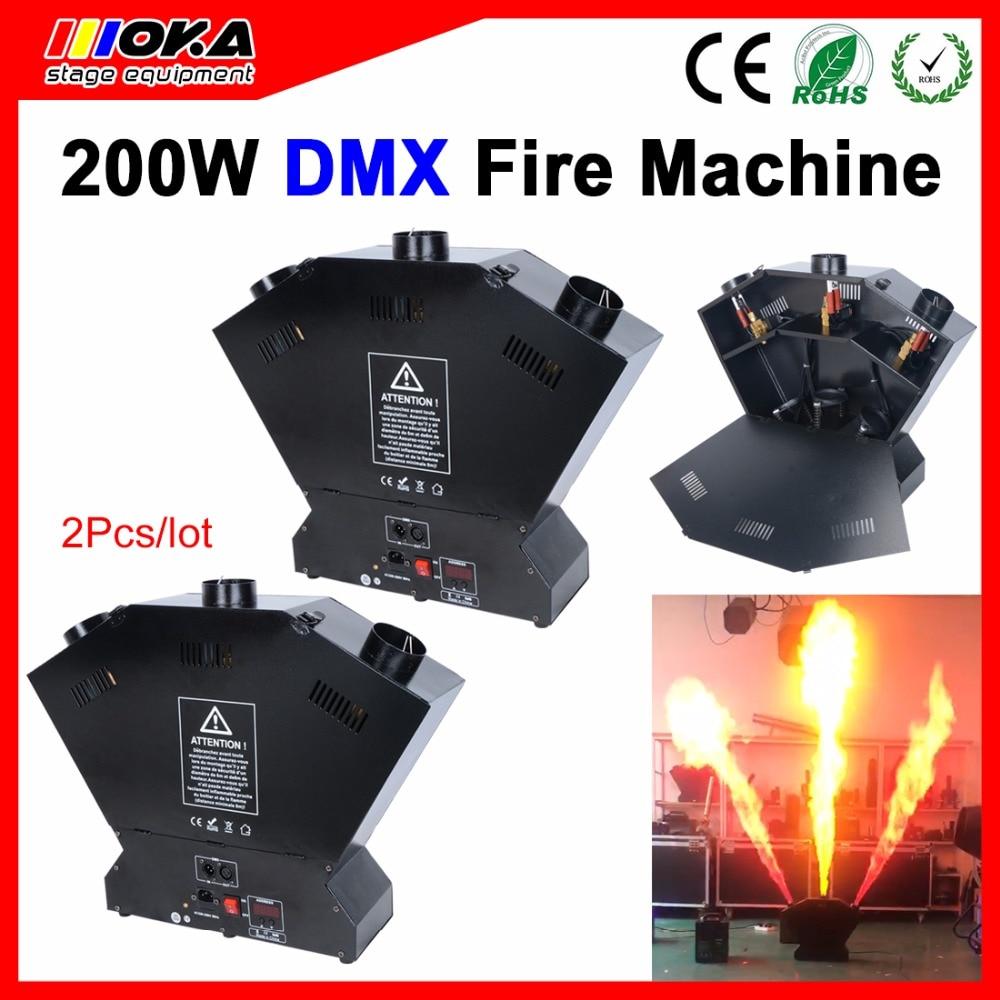 2 pcs/lot DMX Flame Machine Spary Fire Machine Fireworks Machine Stage Equipment Flame Machine