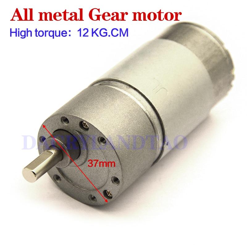 dc6v 12v gear motor GB37RH dc motor rs555 400rpm 800rpm 12kg.cm high large torque
