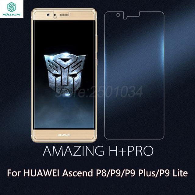 Para huawei ascend p8 p9 p9 más g9/p9 lite nillkin h + Pro 9 H 0.2 MM Ultra Delgado de Pantalla de Cristal Templado 2.5D Arco Edge Protector