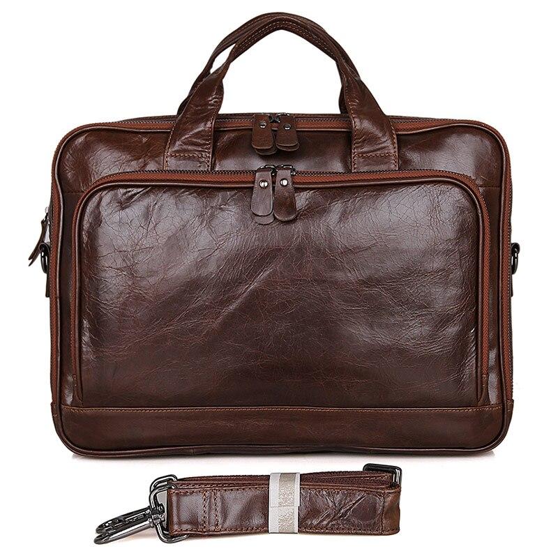 JMD Vintage Genuine Leather Briefcases 14 Laptop Handbag Men's Business Fashion Crossbody Bag Messenger/Shoulder Bags for Men jmd guaranteed genuine leather bag crossbody bag flap bag messenger bag for business men 1038q
