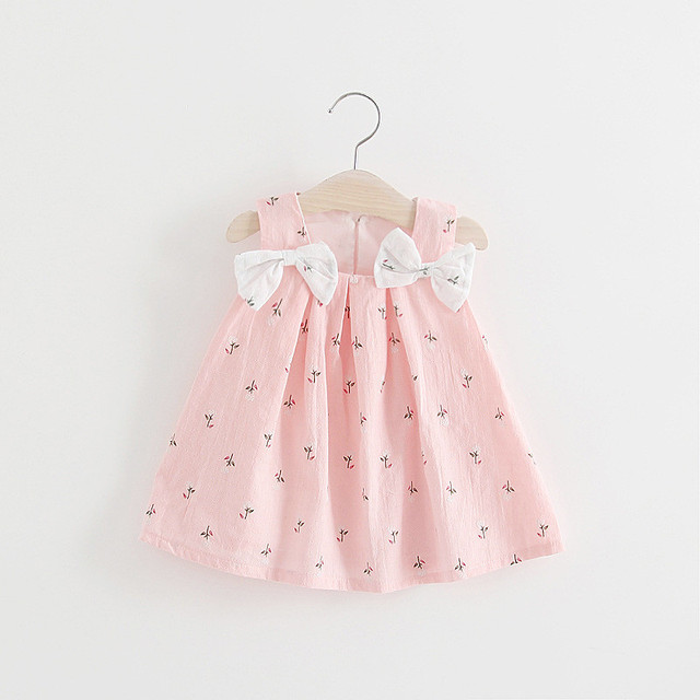 b9881bcfa5d64 US $4.49 10% OFF|BNWIGE 0 24M Casual Summer Baby Girl Dress Cotton Print  Floral Bow Infant Girl Dresses Toddler Baby Girl Clothes-in Dresses from ...