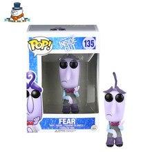 [QuanPaPa] Genuine Original  FunKo POP Inside Out Fear 135 Model Action Figure doll car Decoration kids toys