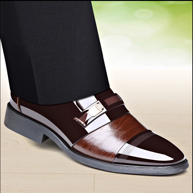 in stock high quality leather shoes lace up wedding