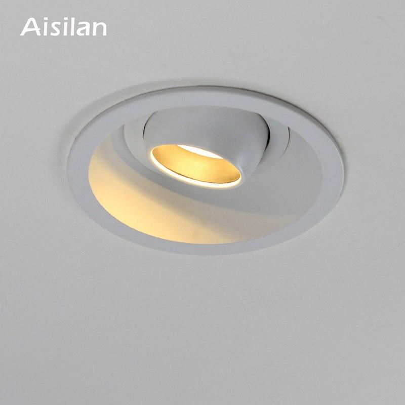 LED Ceiling Rondelle Luminaire Spot Sleep Room Spotlight Chrome Lamp Swivel