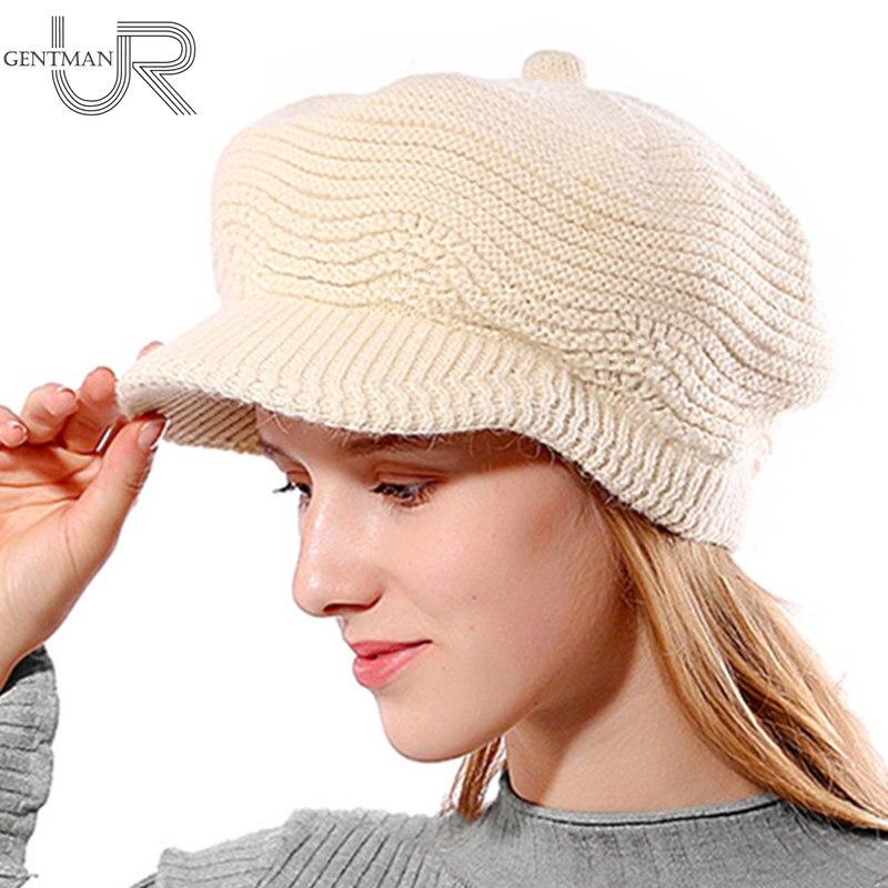 New Women's Hat Female Warm Winter Hat Wave Design   Skullies     Beanies   Fur Knitted Hats For Woman Fashion Winter Rabbit Bonnet Hat