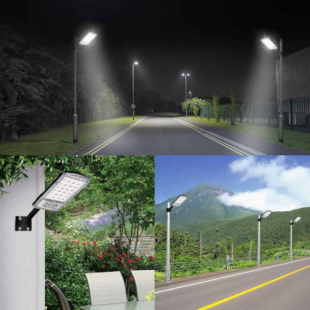 DSstyles 30W/50W/80W 110V LED Street Flood Light Road Cool White Lighting Lamp with Pole for Outdoor IP67 Waterproof