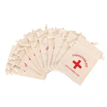 NEW 10pcs Set Hangover Survival Kit Cotton Linen Bags First Aid Party Storage Supply Emergency Kits
