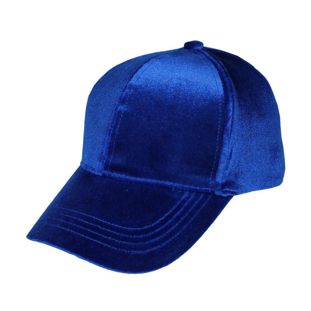 Solid Velvet Baseball Caps Adjustable Outdoor Trucker Hat for Women Men