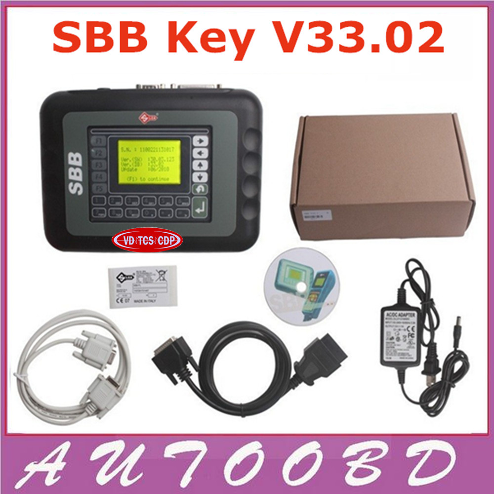 DHL Freeshipping Universal Silca SBB Key Programmer V33.02 / V33 For Multi-Cars SBB Auto Key Maker By Immobilizer No Token