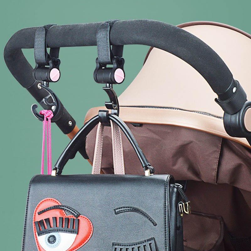 1pcs Baby Hanger Baby Bag Stroller Stroller Rotating 360 Degree Baby Car Seat Accessories Cart Organizer