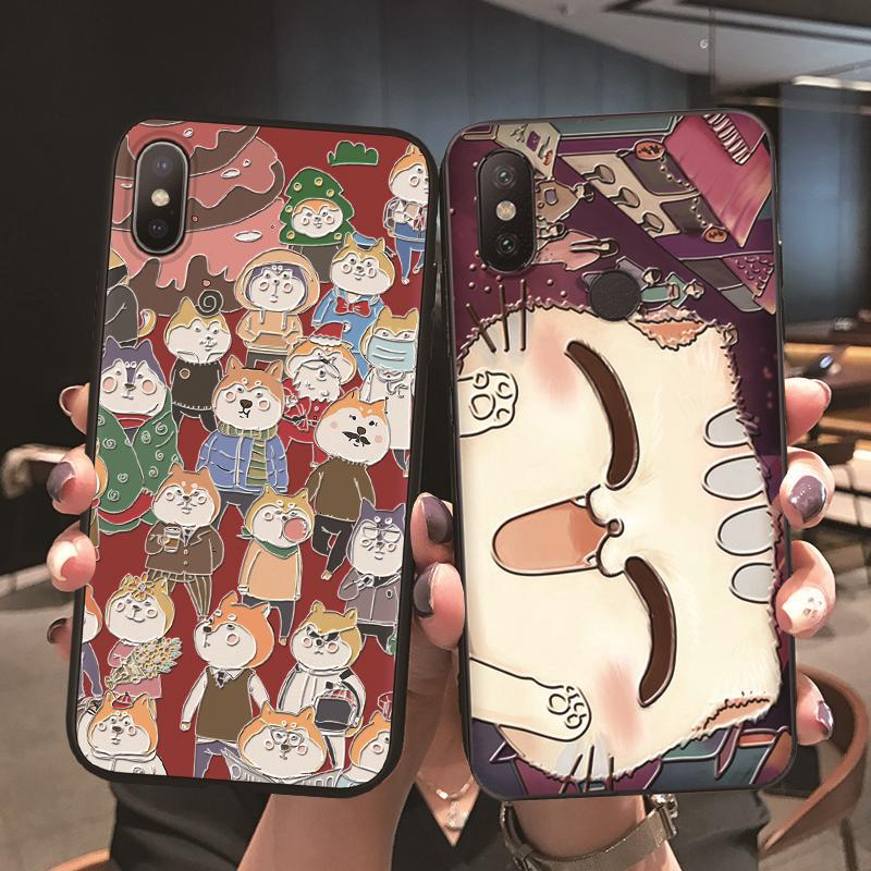 Cute <font><b>Cat</b></font> 3D Emboss <font><b>Case</b></font> For <font><b>Samsung</b></font> <font><b>Galaxy</b></font> S10 S20 S9 S8 A7 A9 A6 <font><b>A8</b></font> Plus <font><b>2018</b></font> A50 A70 A71 A51 A40 S7 S6 Plus Coque Silicone TPU image