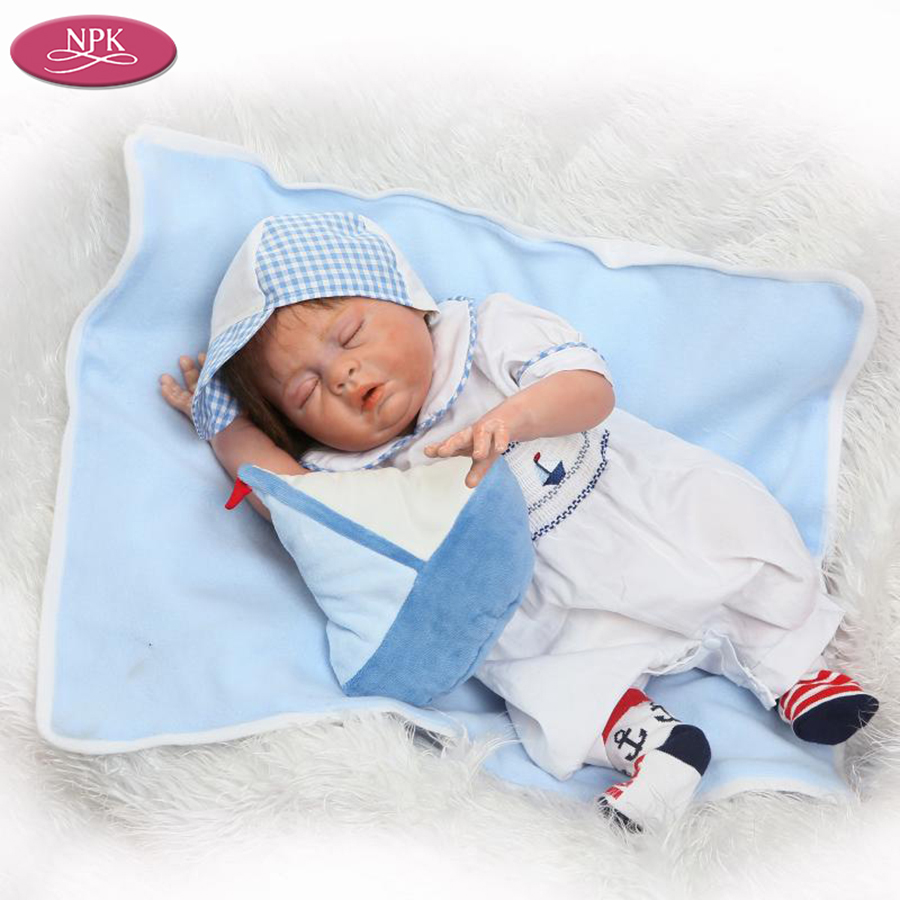 NPK Handmade Full Body Silicone Reborn Doll Lifelike Real Boy Baby ...