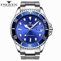 Relojes mecánicos para hombre reloj automático resistente al agua con fecha calendario relojes automaticos para hombre FNGEEN 9001|Relojes mecánicos|   -