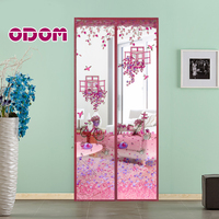 90 X 210cm Magnetic Stripe Closed Door Curtain Anti Mosquito Net Insect Magic Mosquito Curtain 5colors