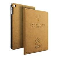 Luxury Leather Case For IPad Mini 1 2 3 4 Smart Sleep Awake Deer Art Print