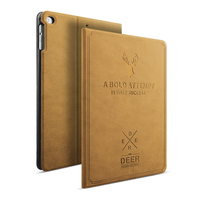 Luxury Leather Case For IPad Mini 1 2 3 4 Smart Sleep Awake Deer Art Print
