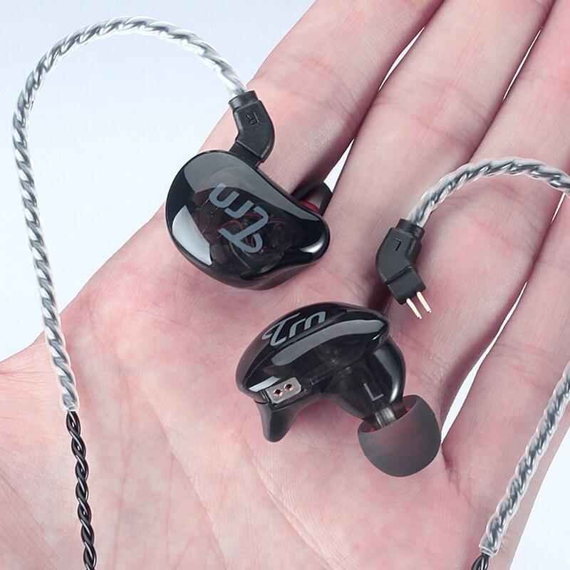 TRN V10 2BA + 2DD Hybride Dans L'oreille Écouteurs HIFI Monito de Course Sport Écouteurs Boules Quies Casque Avec 2PIN Amovible TRN v20/V60/V80