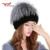 2016 gorros de inverno chapéu de pele de malha para mulheres 100% pele de coelho rex chapéu com pele de raposa flor top tamanho livre das mulheres casuais chapéu W #56