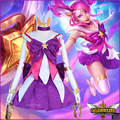 lol new Skin Star Guardian Lux cosplay costume for girls The Lady Of Luminosity Lux Cosplay Uniform Halloween Costumes