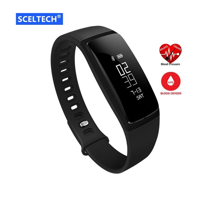 Smart Wristband V07 Heart rate Blood Pressure Watches Smart bracelet Pedometer Fitness Tracker Smart band Clock PK Mi band 2